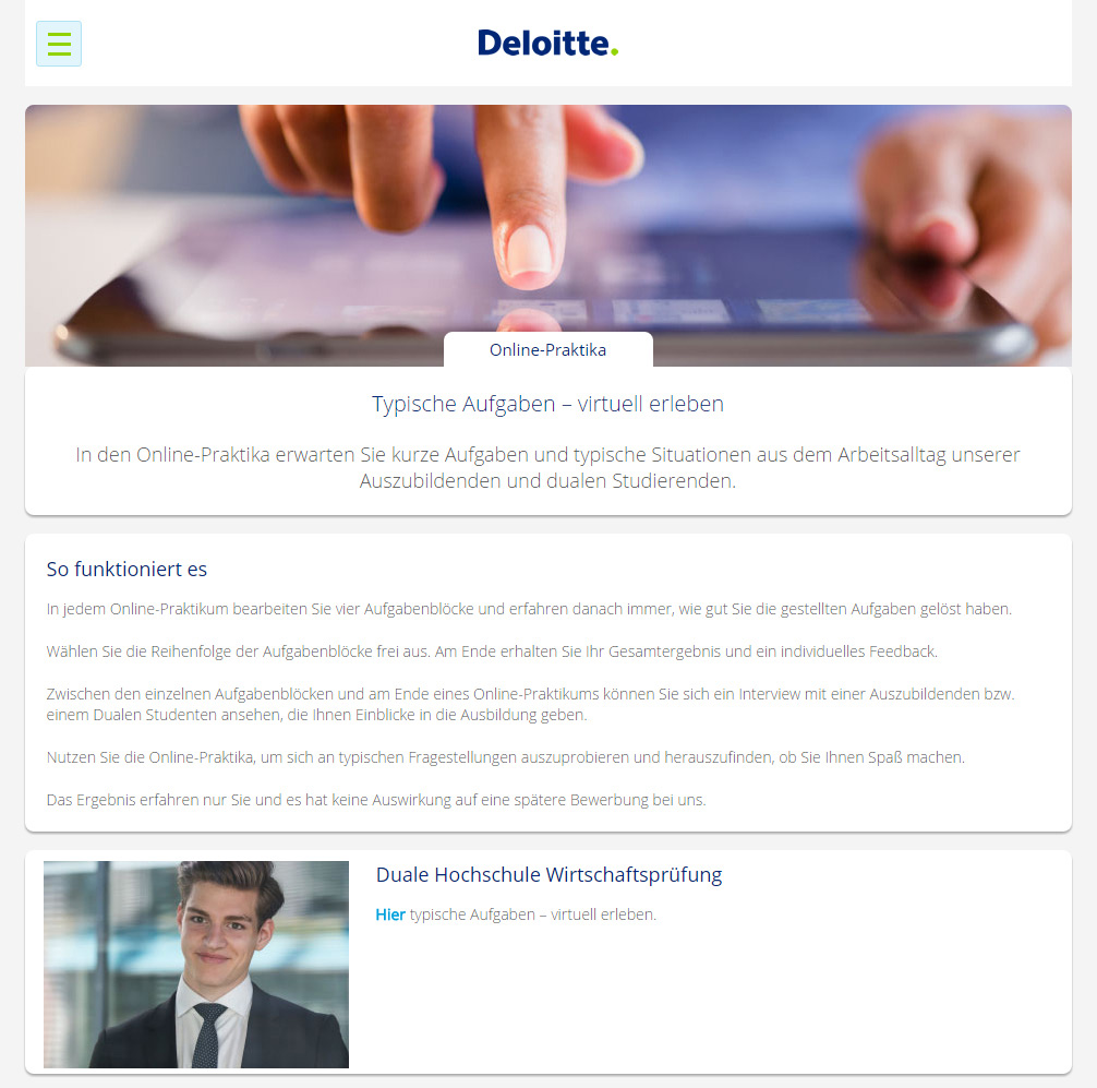 Deloitte – Online Praktika