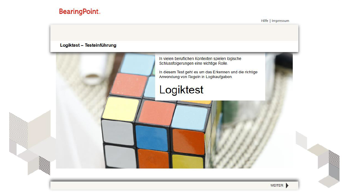 Online Assessment Bei Bearingpoint Cyquest The Recrutainment Company