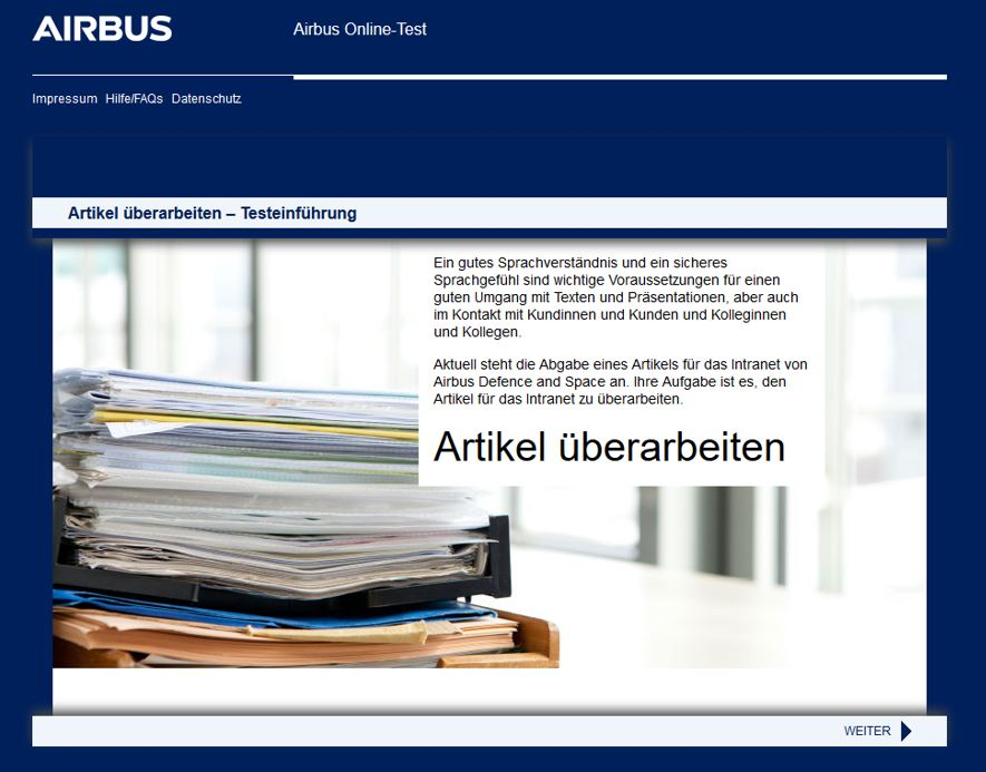 Airbus Online-Test - CYQUEST - The Recrutainment Company